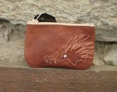 kangaroo with echidna card purse