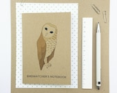 Birdwatcher's pocket notebook (100% recycled with squared paper)