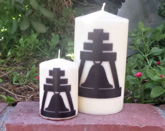 Riverside California Bell Local Pillar Candle set