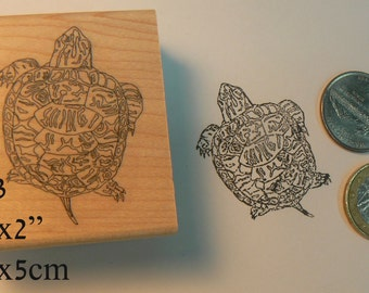 P83 Baby turtle rubber stamp