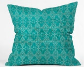 Kantha Tribal Throw Pillow