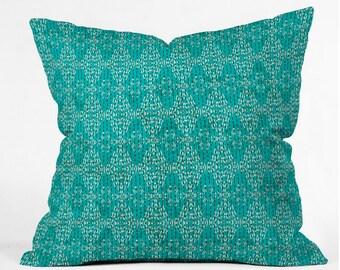 Kantha Tribal Throw Pillow