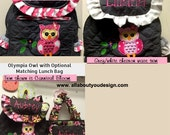 Owl TODDLER Girl Backpack. Choose the Quilted Fabric color and Trim. Read description please CUSTOM HANDMADE