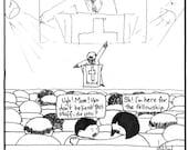 The Real Reason FINE ART reproduction PRINT cartoon