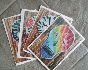 Notecards Sugarskull Set of four