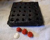 Destash .Silicone ...Raspberry or Blackberry candle mold ... embeds
