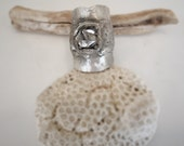 be free herkimer diamond ring in recycled silver size 7.5