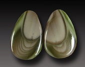 IMPERIAL Jasper Earring Cabs Hand Cut Designer Cabochon Royal Imperial Jasper Earring Pair Cabochon