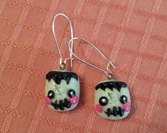 Zombie Polymer clay earrings