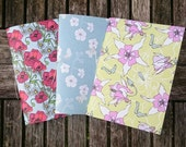 Pack of 3 Handmade Notebooks - Set 5