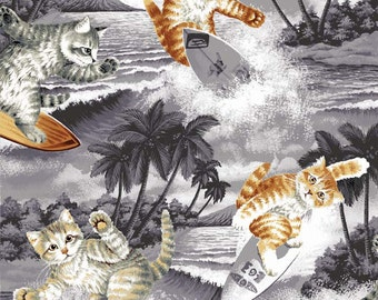 Surfin' Cats - Grey