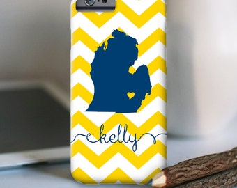iPhone 7 Personalized Case  - Michigan (Choose your state)  - other models available