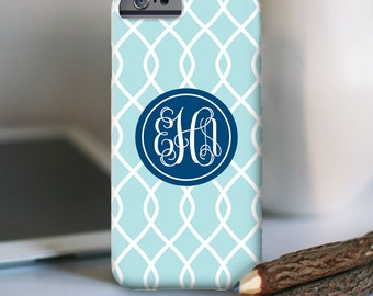 iPhone 7 Personalized Case  - Chain Link monogram  - other models available
