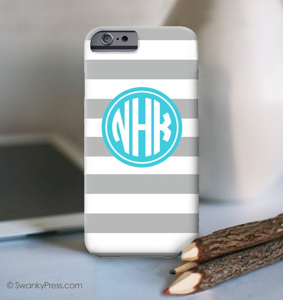 iPhone 7 Personalized Case  - Stripes monogram  - other models available