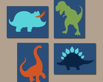DINOSAUR Wall Art  Canvas Or Prints  Boy DINOSAUR Theme  Baby Boy Nursery  Artwork Part 61