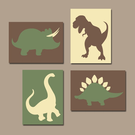 Wall Art Canvas Or Prints Boy DINOSAUR Nursery Baby Boy Nursery Wall