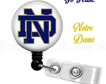 ID reel with MYLAR covering...Notre Dame