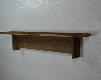 "Reclaimed wood wall shelf  24"" wide 4"" deep beautiful rustic home decor"