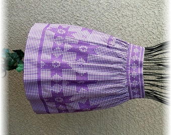 PURPLE GINGHAM with PURPLE Embroidery