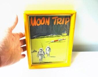 Vintage Framed Paperback Cover Moon Trip 1959