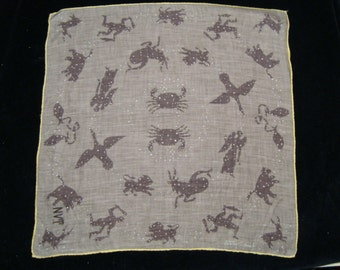 1950's Tammis Keefe Constellations Hankie
