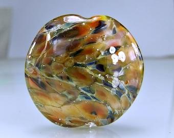 Multi Colored Lampwork Focal Bead SRA Artisan Glass Beads