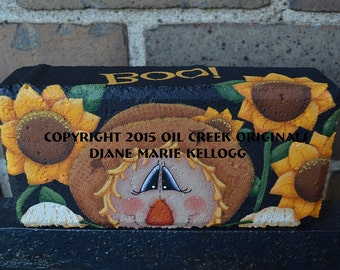 15001 Boo! Scarecrow Brick Pattern Oil Creek Originals