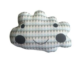 Geometric boys cloud decorative cushion
