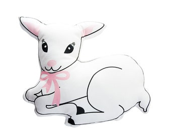 Sweet lamb decorative cushion
