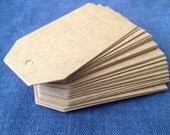 """Large Brown blank tags, kraft hang tag, price tag label, gift tag, wedding favour tags, shipping tag, 4.5 x 9cm (1 3/4 x 3.5"""")"""