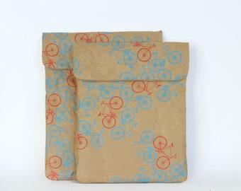City Bikes Pattern iPad & Tablet Paper Sleeve