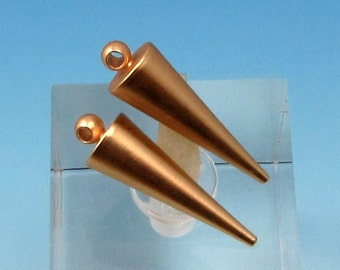 Spike Charm, Satin Matte Gold, 2 Pieces, AG287