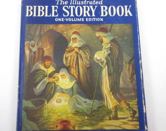 The Illustrated Bible Story Book One Volume Edition Vintage Children's Religious Book by Seymour Loveland Illustrated by Milo Winter
