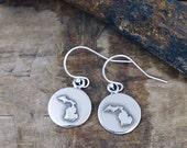 Michigan Earrings - Michigan Jewelry Sterling Silver    #LOC43-er