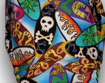 Surfin' Skulls - M/L AI2 Cloth Diaper
