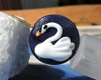 Swan - Lampwork Beads - Focal Bead