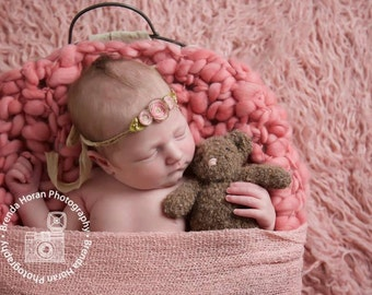 Newborn Photo Prop Knit Teddy Bear, hand knitted bear stuffed bear