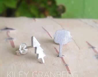 Tree Stud Earrings