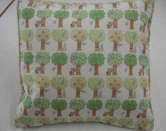 Tree Grove Decor Pillow Sham with Latte Minky Back 14 x 14 READY TO SHIP Clearance Sale