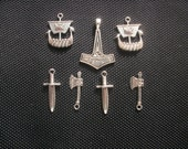 7 Viking Charm Set