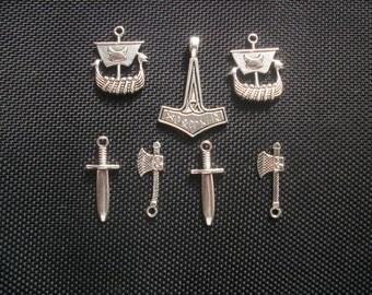 7 Viking Charm Set