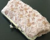 Blush Flower Sequin Clutch
