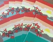 CUSTOM Listing for Kathy 10 Custom made Fall Sunset Blank Cards