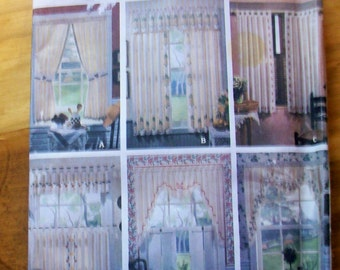 Simplicity 8694 stenciled curtains sewing pattern