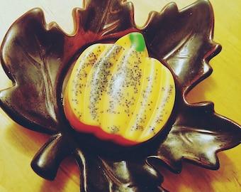 Pumpkin Soap. All Natural Soap. Fall Gifts. Fall Decor. Halloween soap. Halloween gift. Pumpkin party favors. Vegan Soap. Autumn party favor