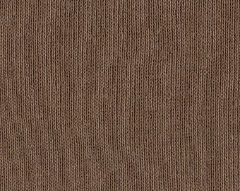 SIENNA BROWN 1x1 RIBBING, Cotton, Fat Eighth, 9 x 15 inches