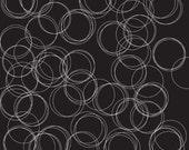 30% OFF Four Corners Circles Black - 1/2 Yard