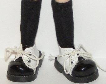 Short Black Socks For Blythe...One Pair Per Listing...