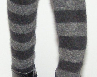 Black And Gray Tights For Blythe...One Pair Per Listing...