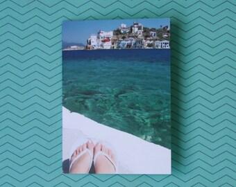 Carefree Summer Flip Flop Notecard